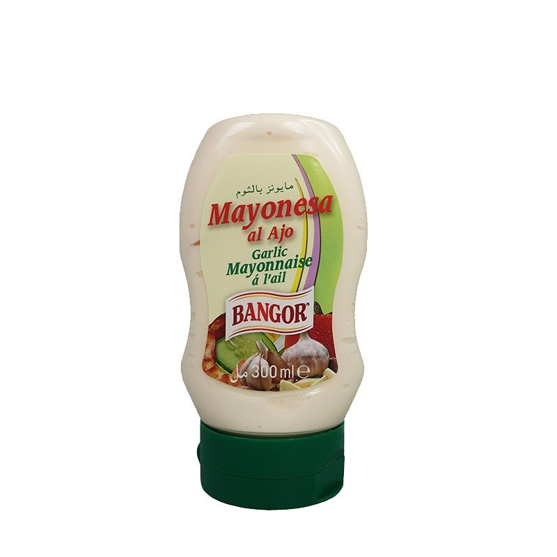 Mayonesa al Ajo botella bocabajo 300 ml