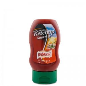 Ketchup botella hércules bocabajo 320 g