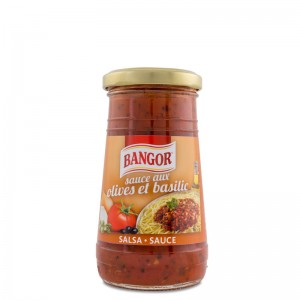 Salsa Aux Olives et Basilic tarro cristal 275 g