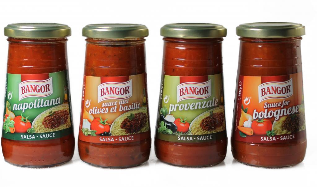 Salsas para pasta Bangor